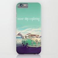 NEVER STOP EXPLORING THE BEACH iPhone 6 Slim Case