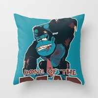 Kong Of The Dead Throw Pillow