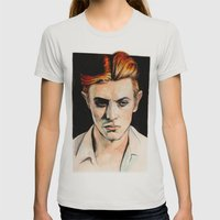 Thin White Duke Womens Fitted Tee Silver SMALL