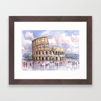 Il Colosseo, Roma (Color Version) Framed Art Print