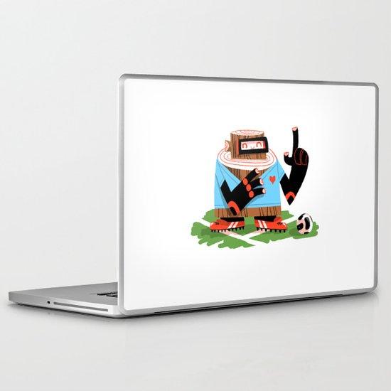 Wooden Robot Valentine Laptop & iPad Skin