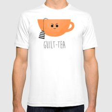 Guilt-tea Mens Fitted Tee White SMALL