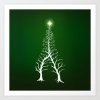 Christmas Tree Intertwin… Art Print