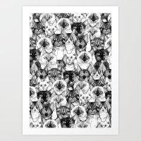 Just Cats Art Print