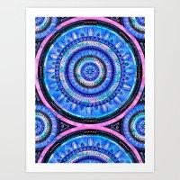 Mandala 2 {blue} Art Print