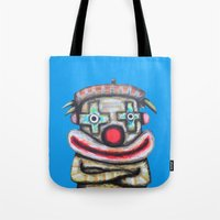 Clown with small advertisement Tote Bag