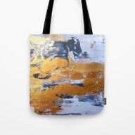 Tote Bag featuring Gold In The Ice by Haroulita