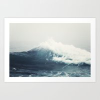 wave Art Prints featuring Sea Wave by Bree Madden