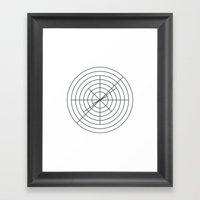 #369 Target collider – Geometry Daily Framed Art Print