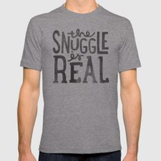 the snuggle is real Mens Fitted Tee Tri-Grey SMALL