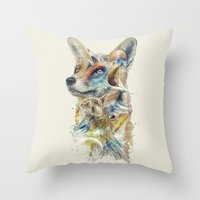 Heroes of Lylat Starfox Inspired Classy Geek Painting Throw Pillow
