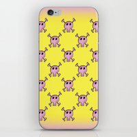 Pink Lemonade Punk Skulls iPhone & iPod Skin