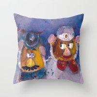 MR AND MRS POTATOE HEAD Throw Pillow