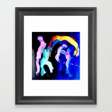 Fear And Ecstasy On The Dance Floor Framed Art Print