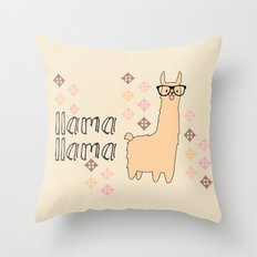 Llama Llama Throw Pillow