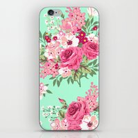 Cottage Chic Roses And L… iPhone & iPod Skin