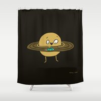 Planet at Play Shower Curtain