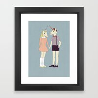 Our love is unique, we are Unicorns Framed Art Print