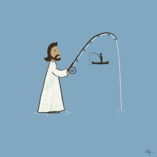 Jesus Fish Art Print