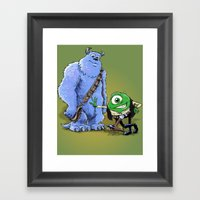 Hike And Chulley Framed Art Print