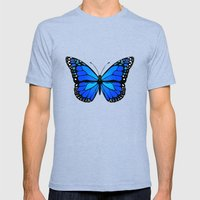 Blue butterfly Mens Fitted Tee Tri-Blue SMALL