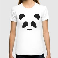 Panda Womens Fitted Tee White SMALL