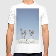 York BLVD | Highland Park | Los Angeles Mens Fitted Tee SMALL White