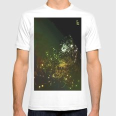 Mysterious World In the Garden White Mens Fitted Tee SMALL