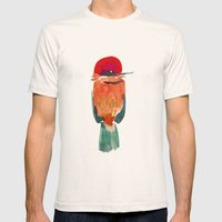 Birds Mens Fitted Tee Natural SMALL