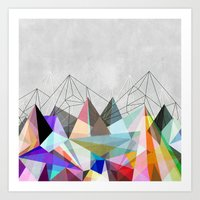 geometric Art Prints featuring Colorflash 3 by Mareike Böhmer