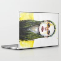 yellow Laptop & iPad Skins featuring yellow lemongrass by agnes-cecile