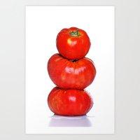 Biologic Tomatoes Art Print