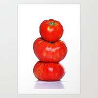 Biologic Tomatoes Art Print