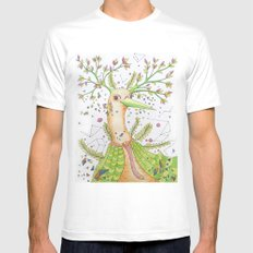 Forest's hear White SMALL Mens Fitted Tee
