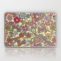 My butterflies and flowers. in yellow Laptop & iPad Skin