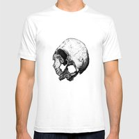 Human Skull Vintage Illustration  Mens Fitted Tee White SMALL