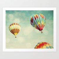 Perfect Dream - Hot Air … Art Print