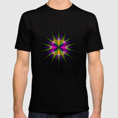 Circular Pattern SMALL Black Mens Fitted Tee