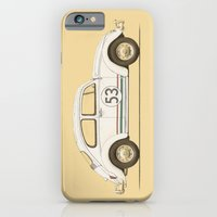 iPhone Cases featuring Famous Car #4 - VW Beetle by Speakerine / Florent Bodart