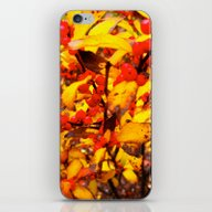 iPhone & iPod Skin featuring Red And Yellow by Ken Seligson