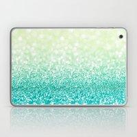 Green Glitter Bokeh Laptop & iPad Skin