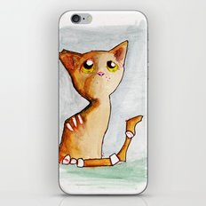 Orange Zombie Kitty iPhone & iPod Skin