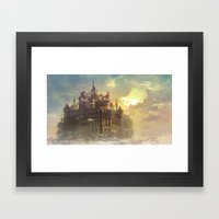 High castle Framed Art Print