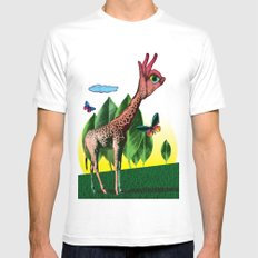 Girafe White SMALL Mens Fitted Tee