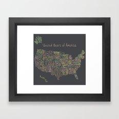 United Beers Of America Framed Art Print