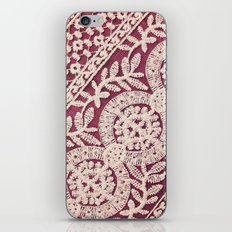 lace on red iPhone & iPod Skin