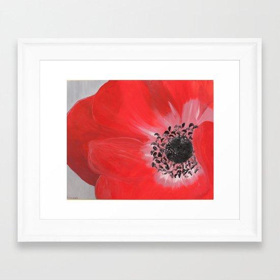 """oh dear poppy"" Framed Art Print"