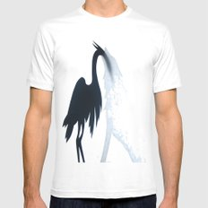 Wolf and the Heron SMALL White Mens Fitted Tee