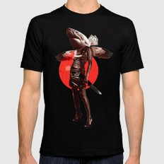 Shark Lady · Honey, what do you do for money? Mens Fitted Tee Black SMALL