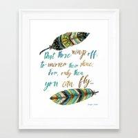 Dust Those Wings Off... Framed Art Print